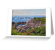 Light on Maine's Rocks Greeting Card