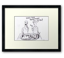 Having A Clown For Dinner Framed Print