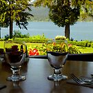 Table For Two at Lake Quinault Lodge by Elaine Bawden
