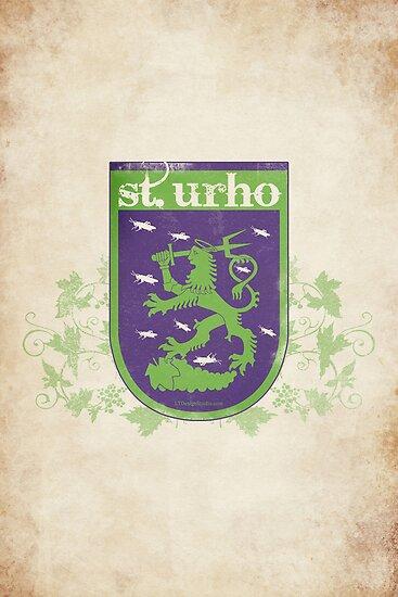 St. Urho Coat of Arms by LTDesignStudio