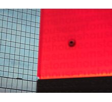 Red and grey abstract - Customs House Sydney Photographic Print