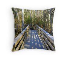 Boardwalk at Blackwater Throw Pillow
