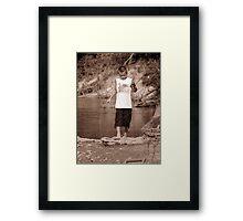 zack fishing Framed Print