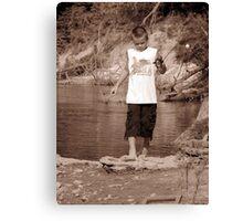 zack fishing Canvas Print