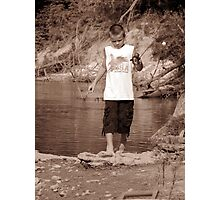 zack fishing Photographic Print