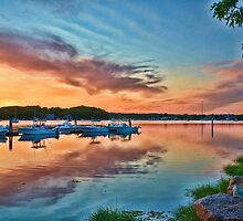 East coast sunset by Nancy Rohrig
