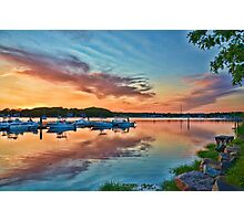 East coast sunset Photographic Print
