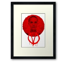 V FOR VENDETTA - HE WAS ALL OF US Framed Print
