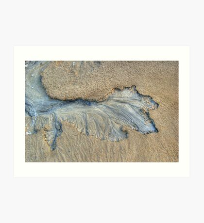 Pattern In The Sand Art Print