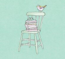 bird on a chair knows what's up! #2 by tiffatron