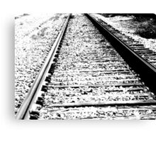 Something about the Railroad Tracks Canvas Print