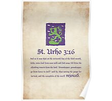 St. Urho 3:16 Poster