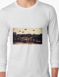 UFO Rome by Raphael Terra Long Sleeve T-Shirt