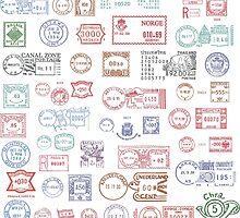 Vintage postmarks by portokalis
