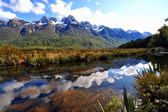 Mirror Lakes. South Island, New Zealand. (5) by Ralph de Zilva