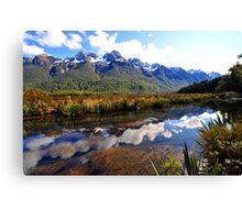 Mirror Lakes. South Island, New Zealand. (5) Canvas Print