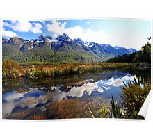 Mirror Lakes. South Island, New Zealand. (5) Poster