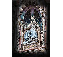 Virgin Mary & Child, Santa Maria Del Fiore Cathedral-Florence, Italy Photographic Print
