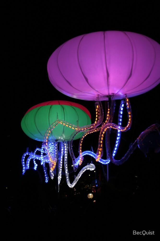 Giant sea creatures- Vivid light show Sydney, NSW by BecQuist
