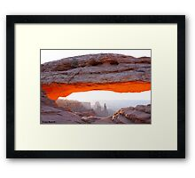 Mesa Arch Sunrise Canyonlands NP Utah Framed Print