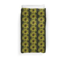 Clematis Abstract Yellow Duvet Cover