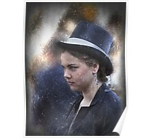 Girl in a Dark Blue Hat Poster