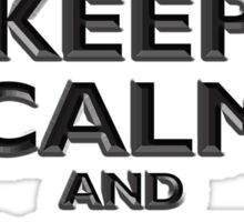 Keep Calm & Carry On, British, UK, Britain, Blighty, Chisel on Red Sticker