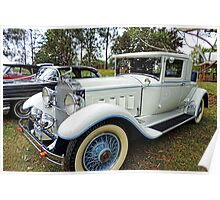 1930's Packard Roadster - White with Blue Trim Poster