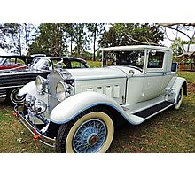 1930's Packard Roadster - White with Blue Trim Photographic Print