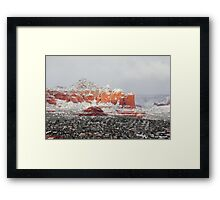Winter Storm Sedona Arizona Red Rocks Framed Print