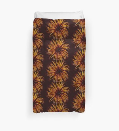 Orange Clematis Abstract Duvet Cover