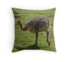Fluffy Ostrich Baby Throw Pillow