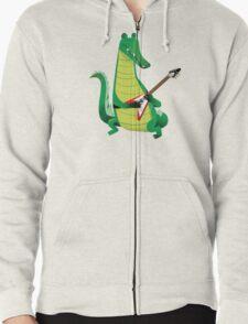 Crocodile Rock Zipped Hoodie
