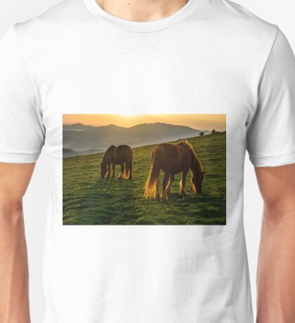A nice spot to graze, sunrise over Monte Subasio, Umbria, Italy Unisex T-Shirt