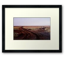 Two Roads Two Roos and too Far Framed Print