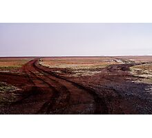 Two Roads Two Roos and too Far Photographic Print