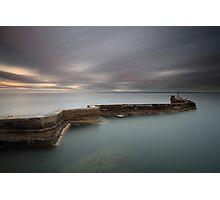 St Monans Pier at Sunset Photographic Print