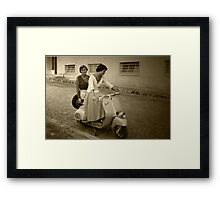YEARS 60...TECHNICAL TESTS OF EMANCIPATION...WITH THE STAND Framed Print