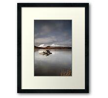 Frozen mountain landscape Framed Print