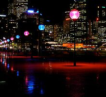 Winter Night Circular Quay by GraemeR