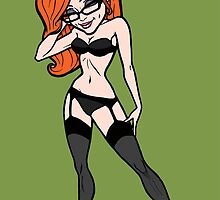 Cartoony Pin-Up Lady by practicecactus