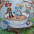 Mad Hatters Tea Party by Trish Loader