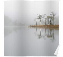 Loch Ard Misty Morning in Autumn Poster