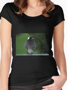 Fluffy Baby Magpie Women's Fitted Scoop T-Shirt
