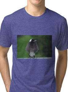 Fluffy Baby Magpie Tri-blend T-Shirt