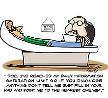 Medical Cartoon- Information Saturation by David Stuart