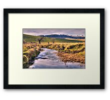 Somewhere  - near Oberon NSW Australia - The HDR Experience Framed Print