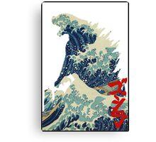 Godzilla Kanagawa wave Canvas Print