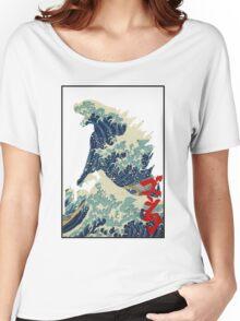 Godzilla Kanagawa wave Women's Relaxed Fit T-Shirt