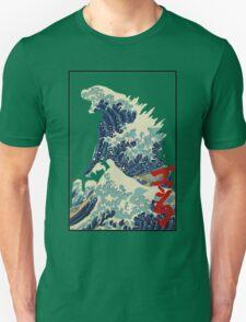 Godzilla Kanagawa wave Unisex T-Shirt